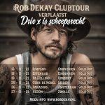 Clubtour Rob Dekay voor 3de x verplaatst.